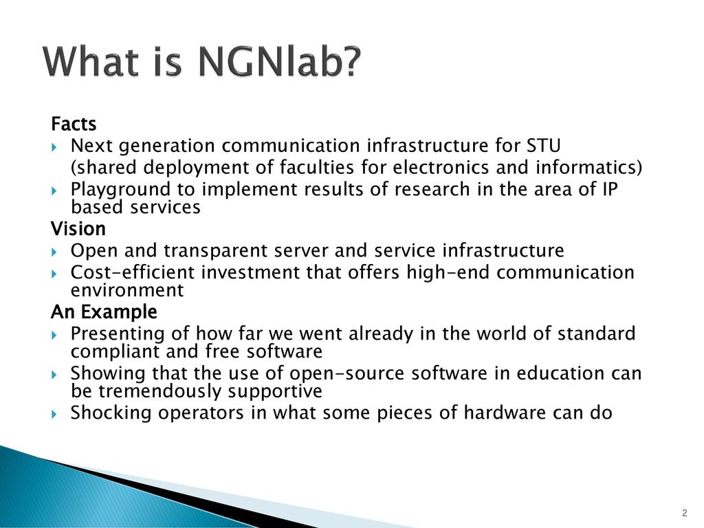 Facts  Next generation communication infrastru...