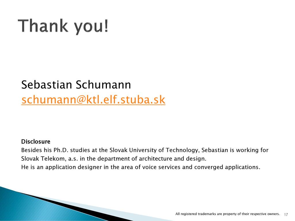 Sebastian Schumann schumann@ktl.elf.stuba.sk Di...