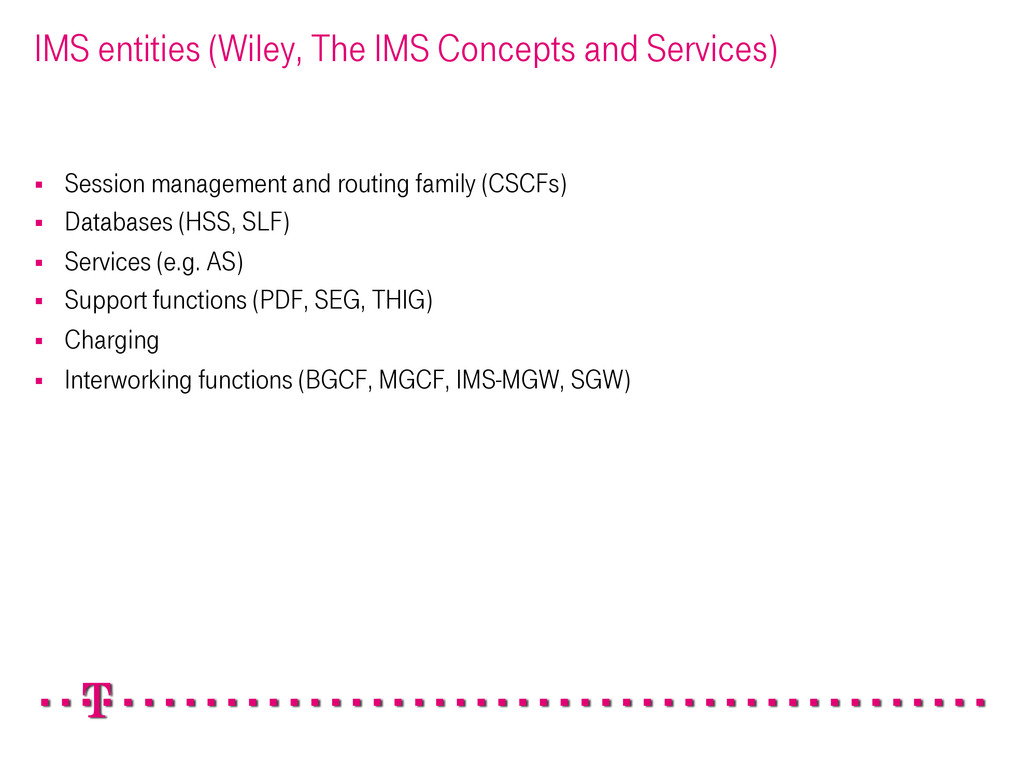 IMS entities (Wiley, The IMS Concepts and Servi...