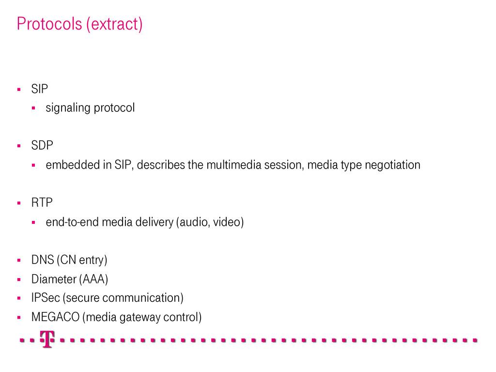 Protocols (extract) § SIP § signaling proto...