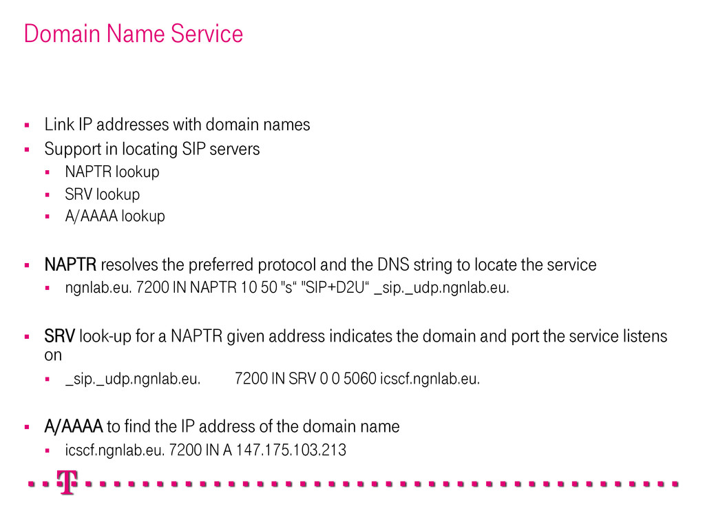 Domain Name Service § Link IP addresses with ...