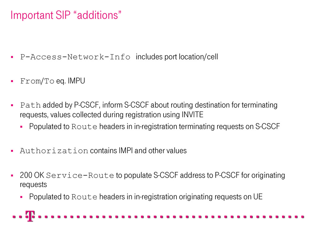"""Important SIP """"additions"""" § P-Access-Network-..."""
