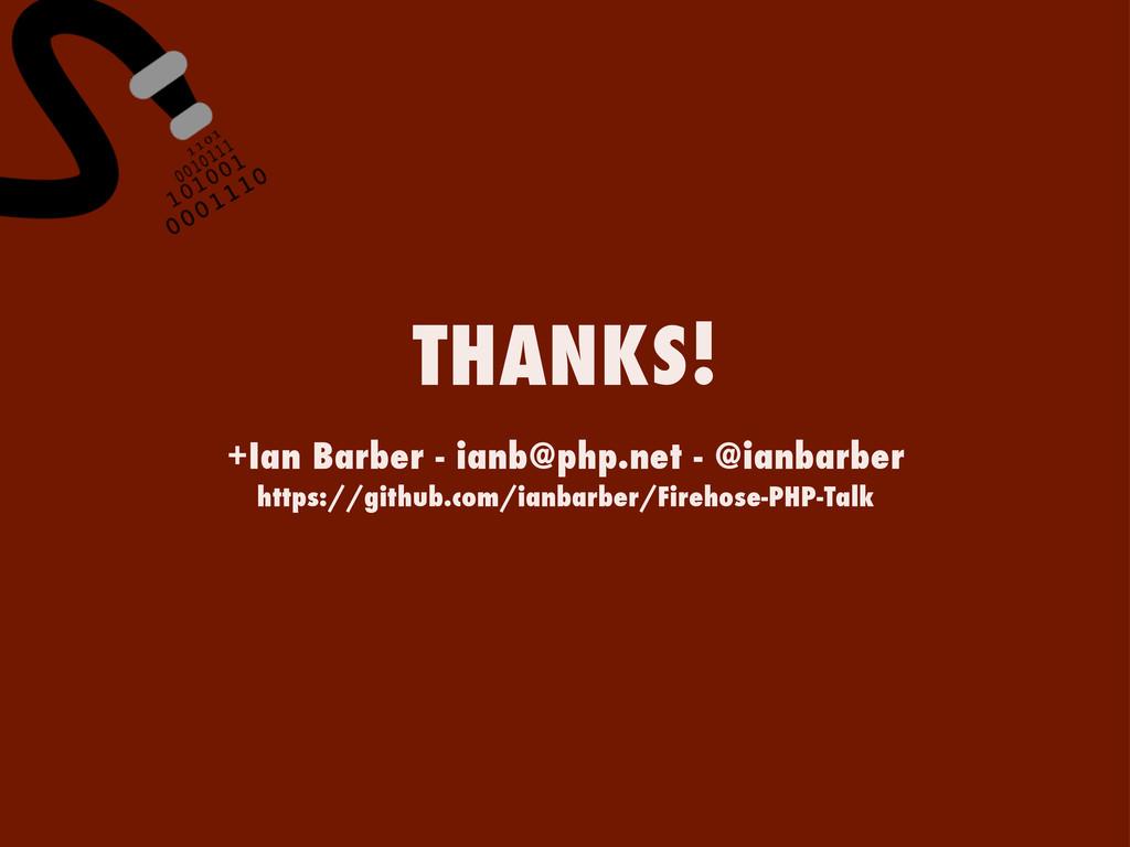 +Ian Barber - ianb@php.net - @ianbarber https:/...