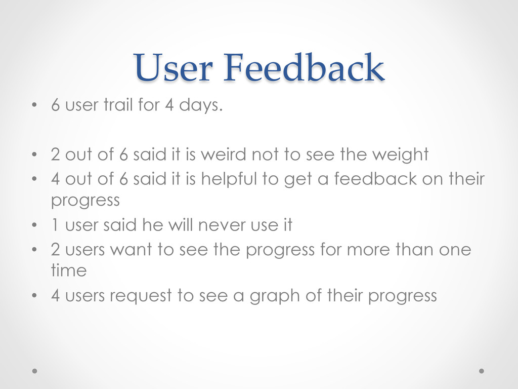 User  Feedback	