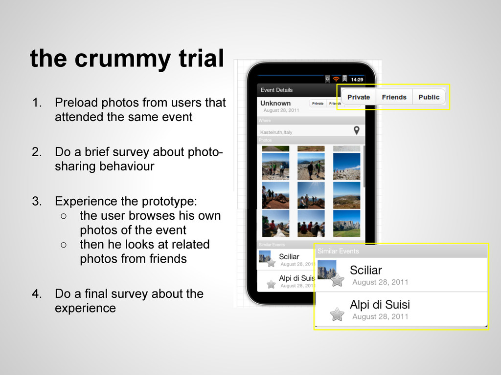 the crummy trial 1. Preload photos from users t...