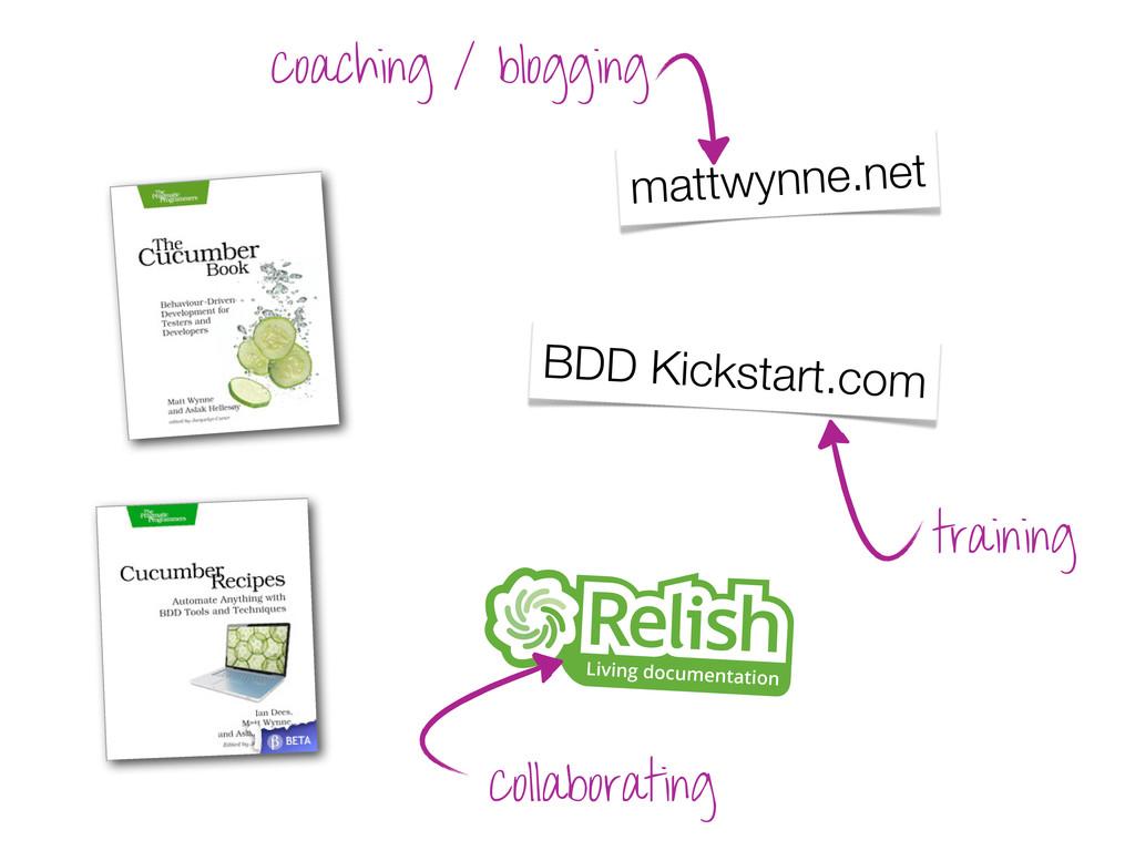 Living documentation BDD Kickstart.com mattwynn...