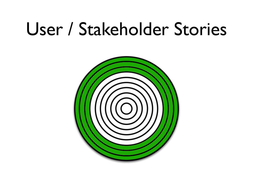 User / Stakeholder Stories