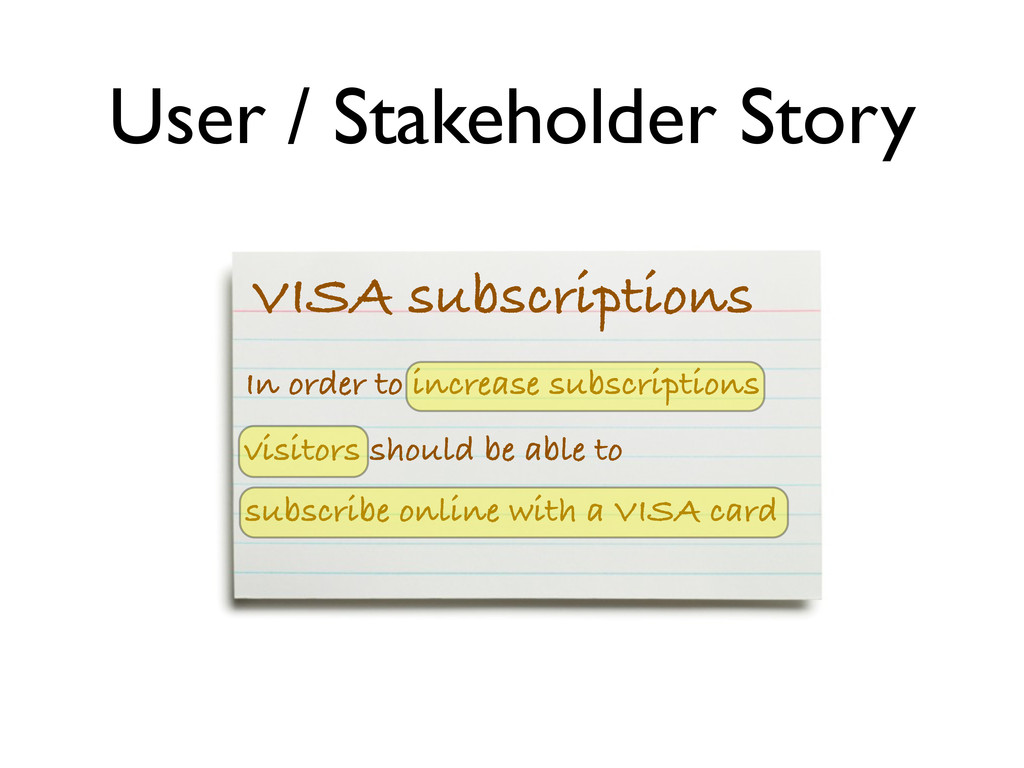 VISA subscriptions In order to increase subscri...