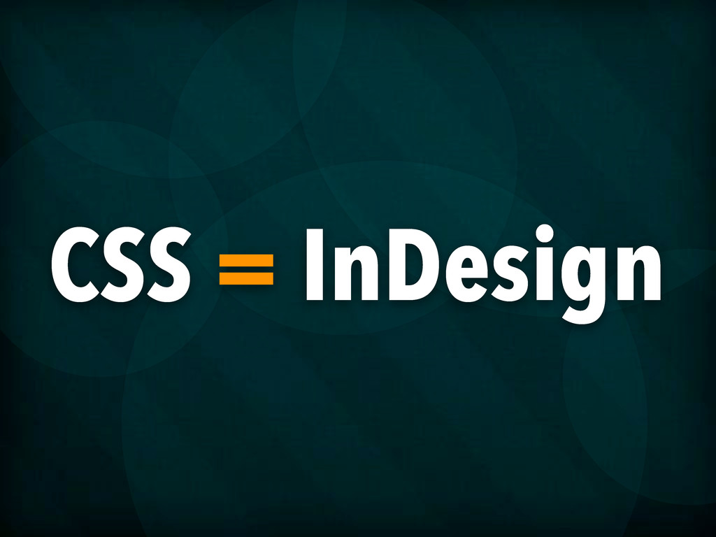 CSS = InDesign