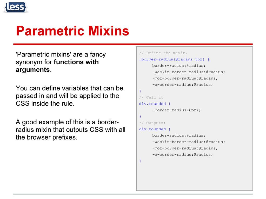 Parametric Mixins 'Parametric mixins' are a fan...