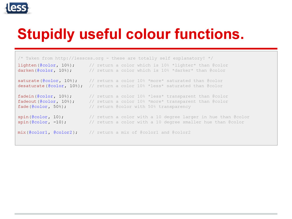 Stupidly useful colour functions. /* Taken from...