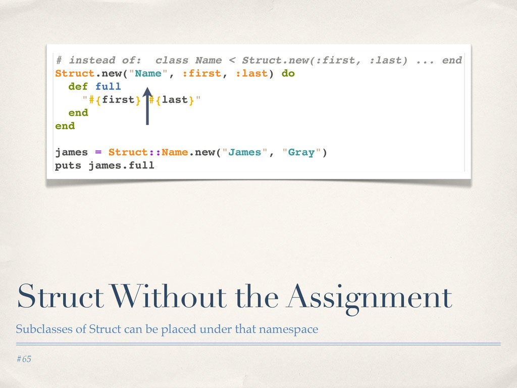 #65 Struct Without the Assignment Subclasses of...