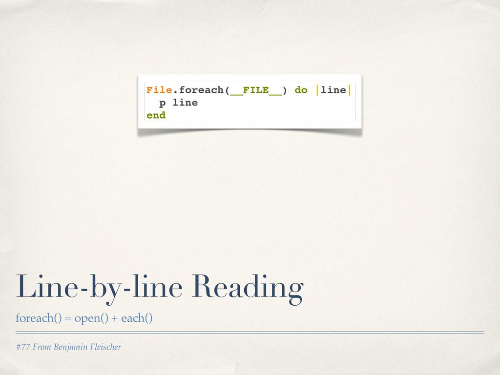 #77 From Benjamin Fleischer Line-by-line Readin...