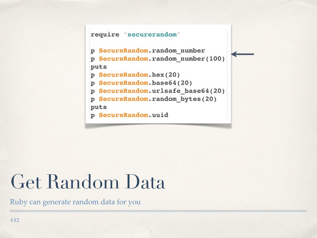 #82 Get Random Data Ruby can generate random da...