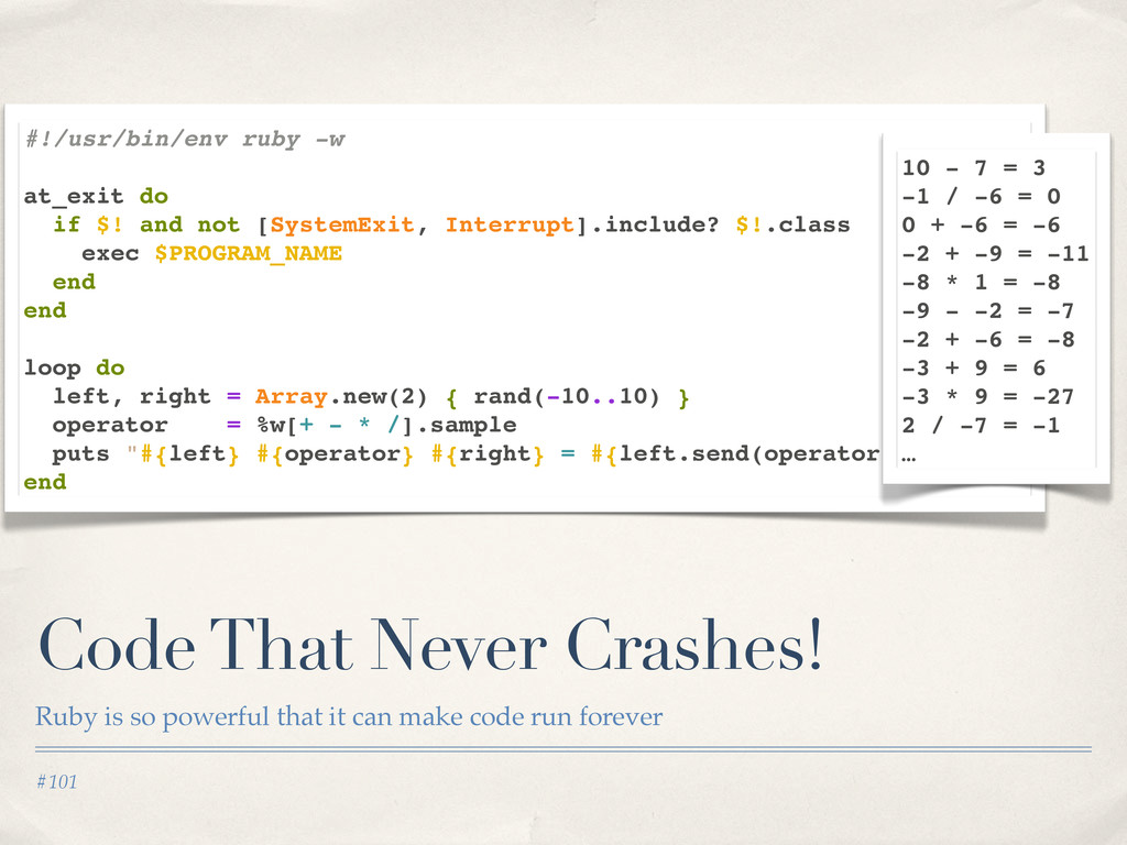 #101 Code That Never Crashes! Ruby is so powerf...