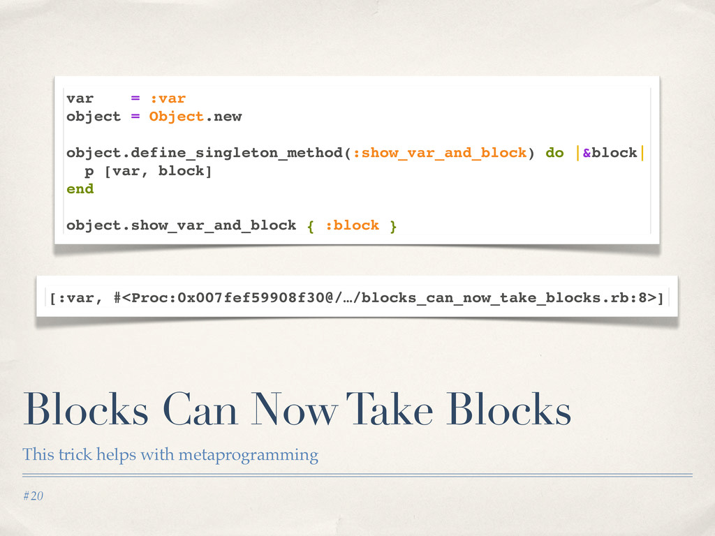 #20 Blocks Can Now Take Blocks This trick helps...