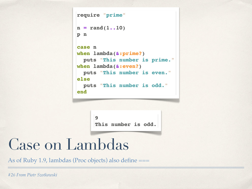 "require ""prime"" n = rand(1..10) p n case n when..."