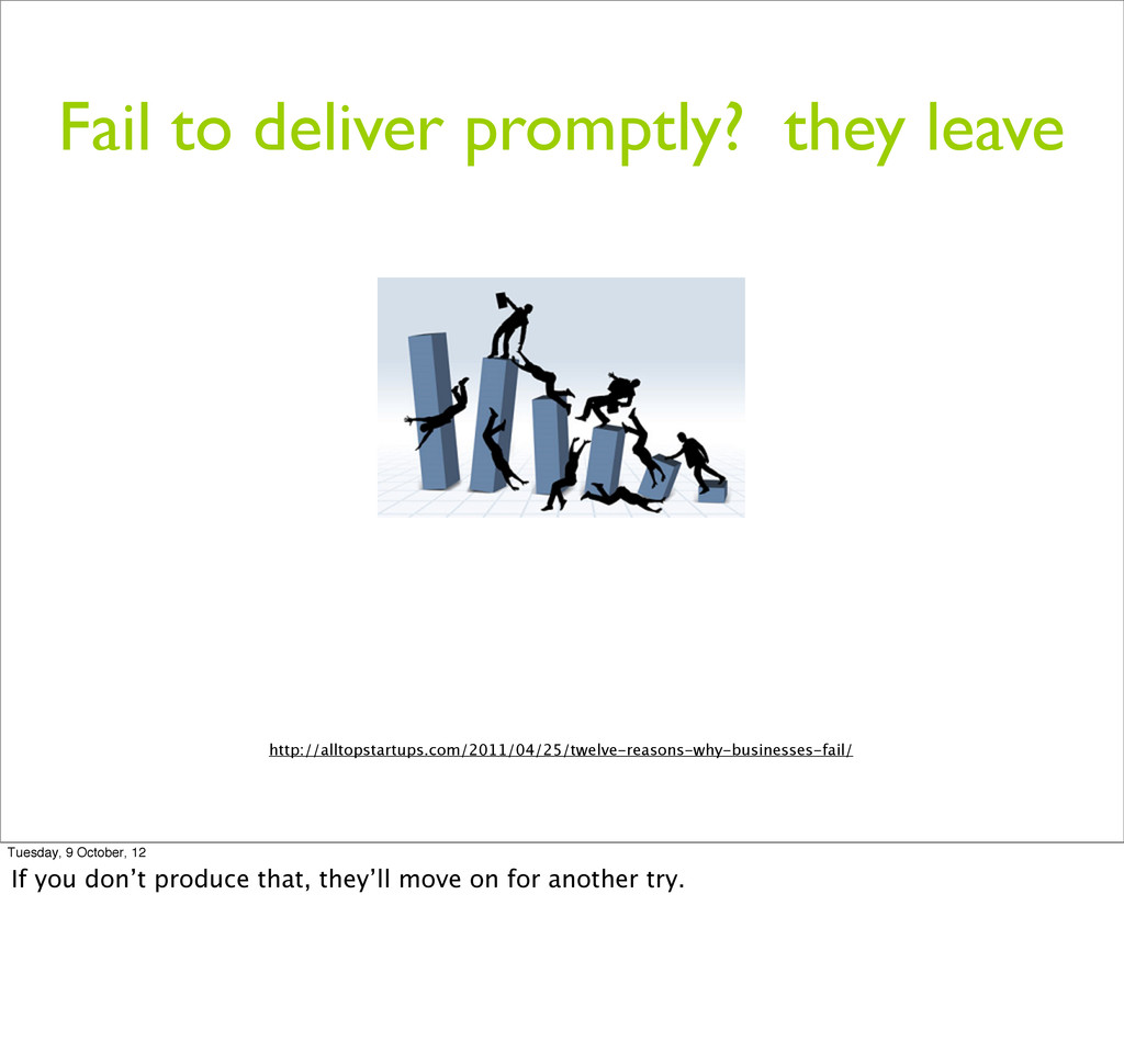 Fail to deliver promptly? they leave http://all...