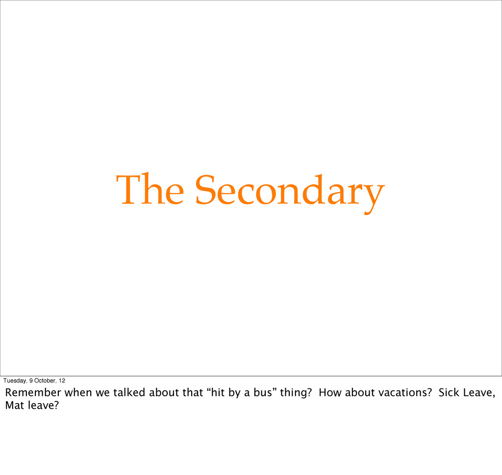 The Secondary Tuesday, 9 October, 12 Remember w...