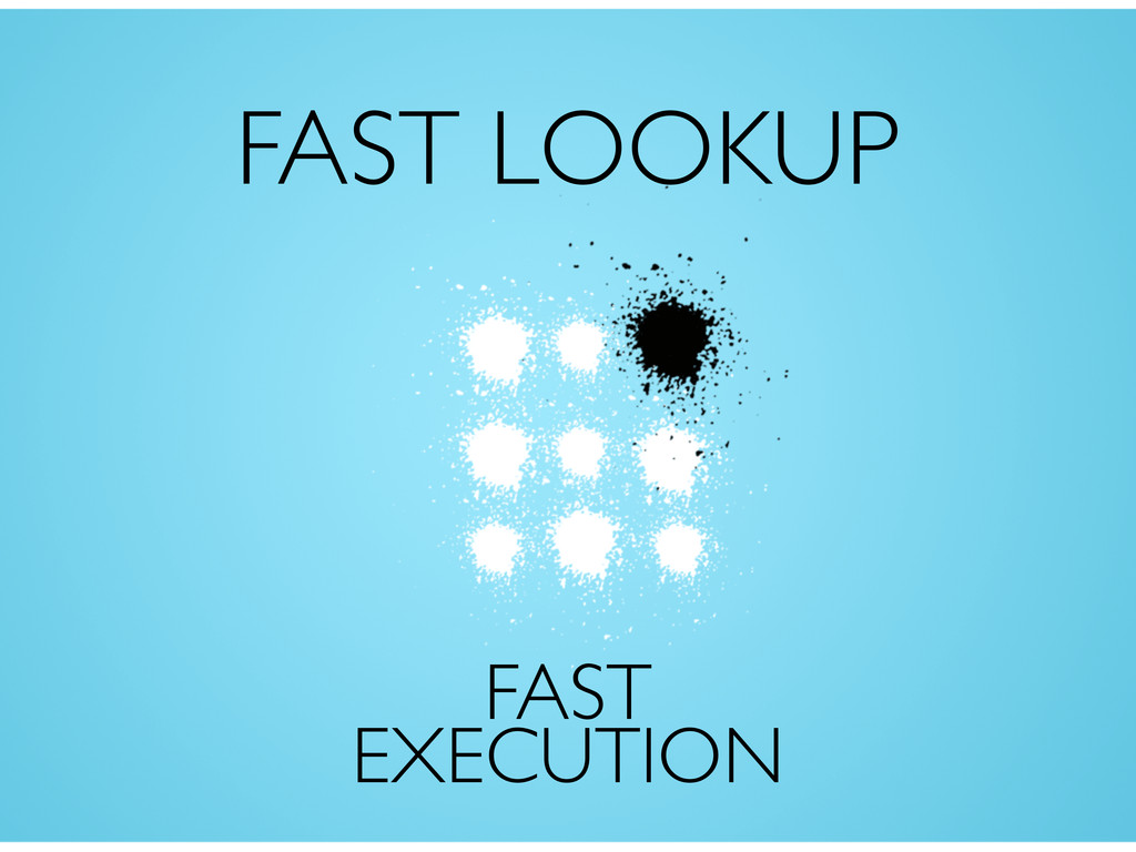 FAST LOOKUP FAST EXECUTION