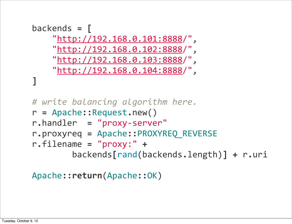 """backends = [     """"http://192...."""