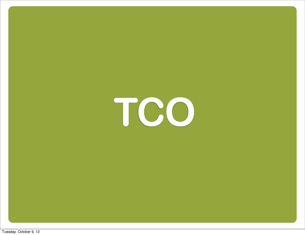 TCO Tuesday, October 9, 12