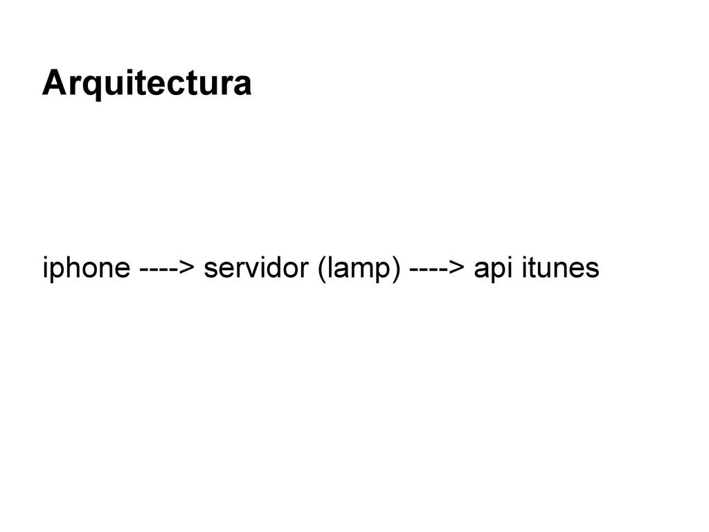 Arquitectura iphone ----> servidor (lamp) ---->...