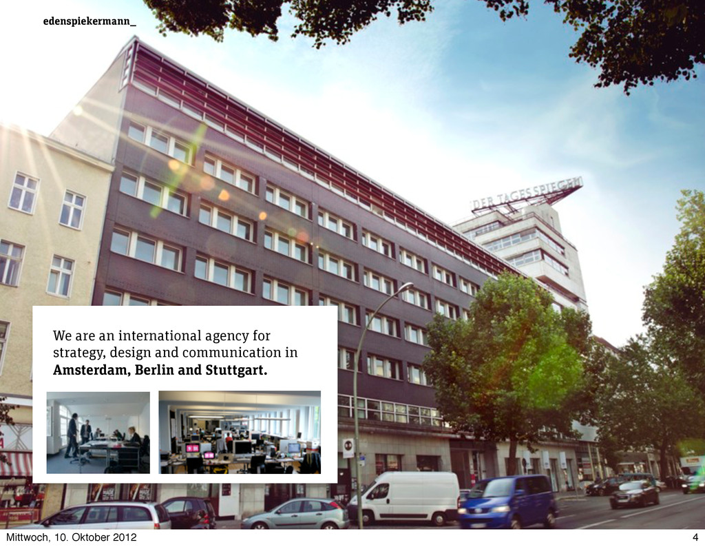 edenspiekermann_ We are an international agency...