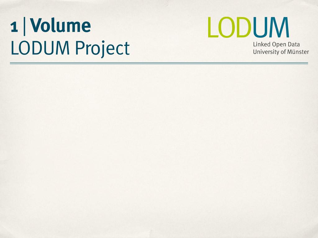 1 | Volume LODUM Project LODUM Linked Open Data...