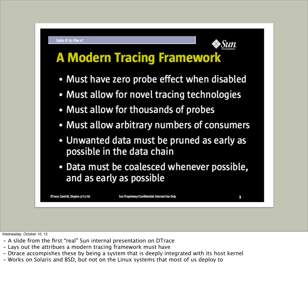 Title Wednesday, October 10, 12 - A slide from ...