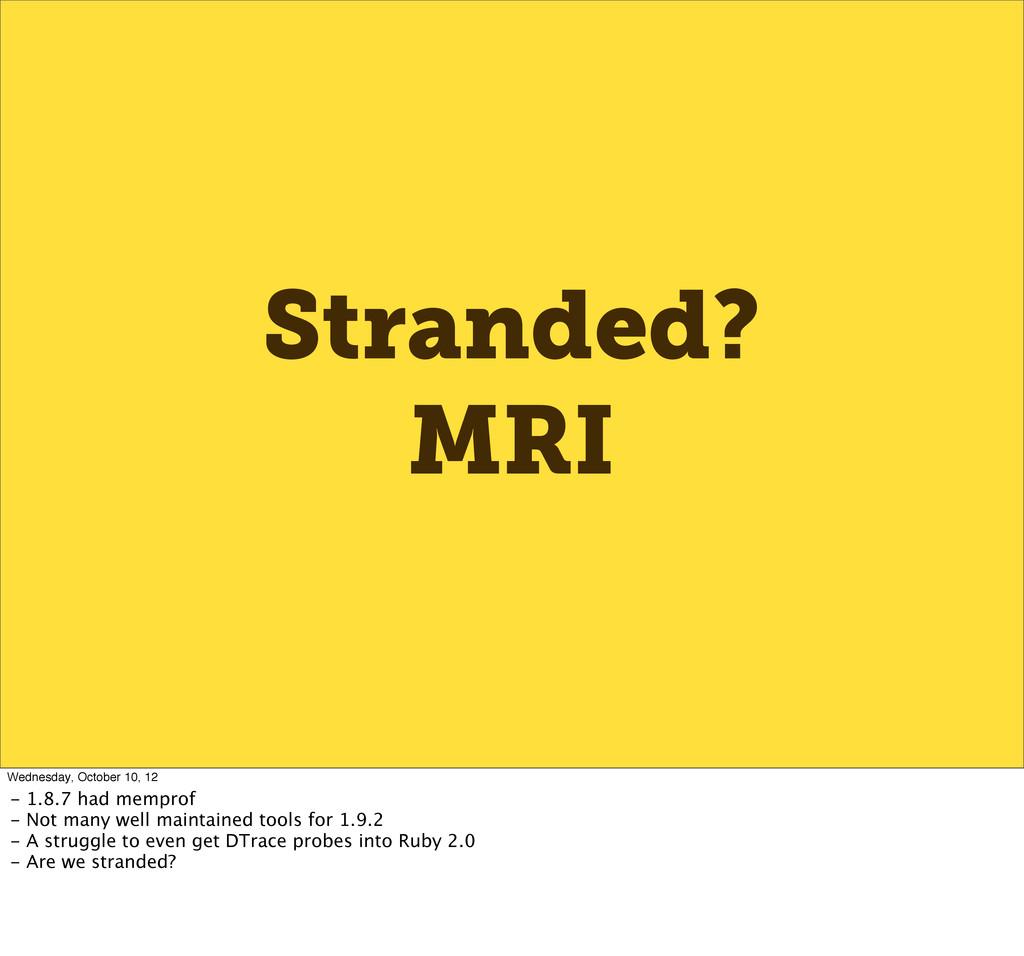 Stranded? MRI Wednesday, October 10, 12 - 1.8.7...