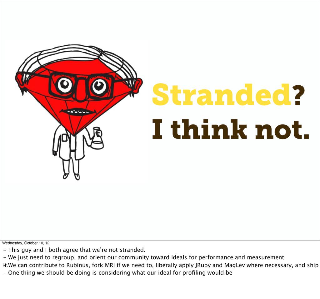 Stranded? I think not. Wednesday, October 10, 1...