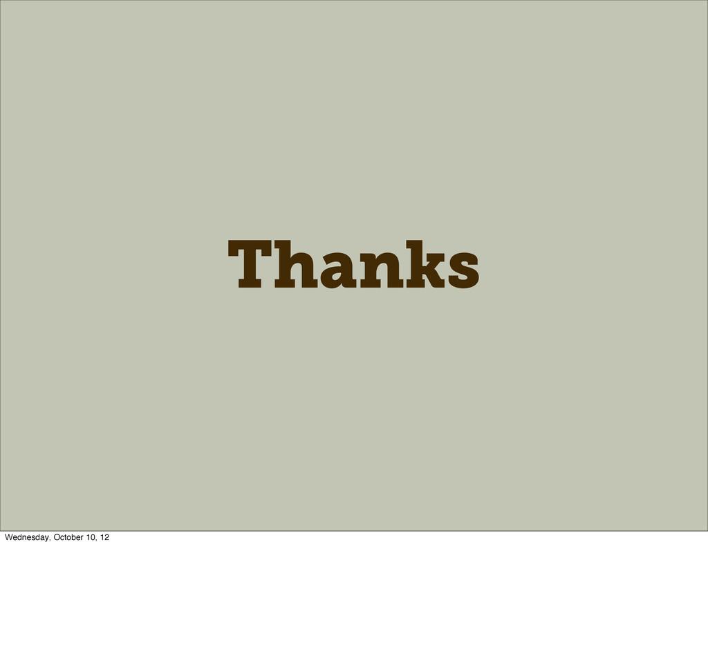 Thanks Wednesday, October 10, 12
