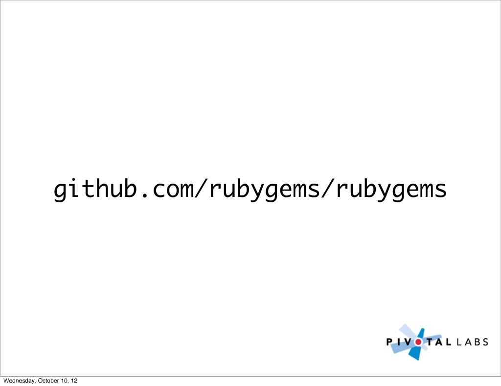 github.com/rubygems/rubygems Wednesday, October...