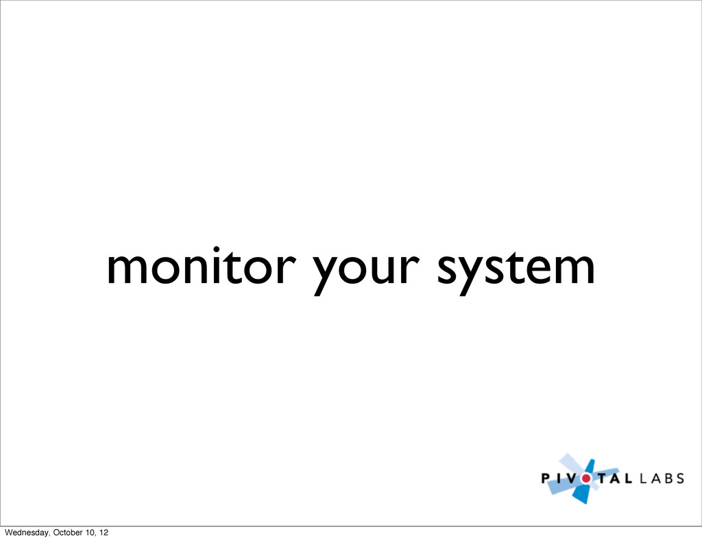 monitor your system Wednesday, October 10, 12