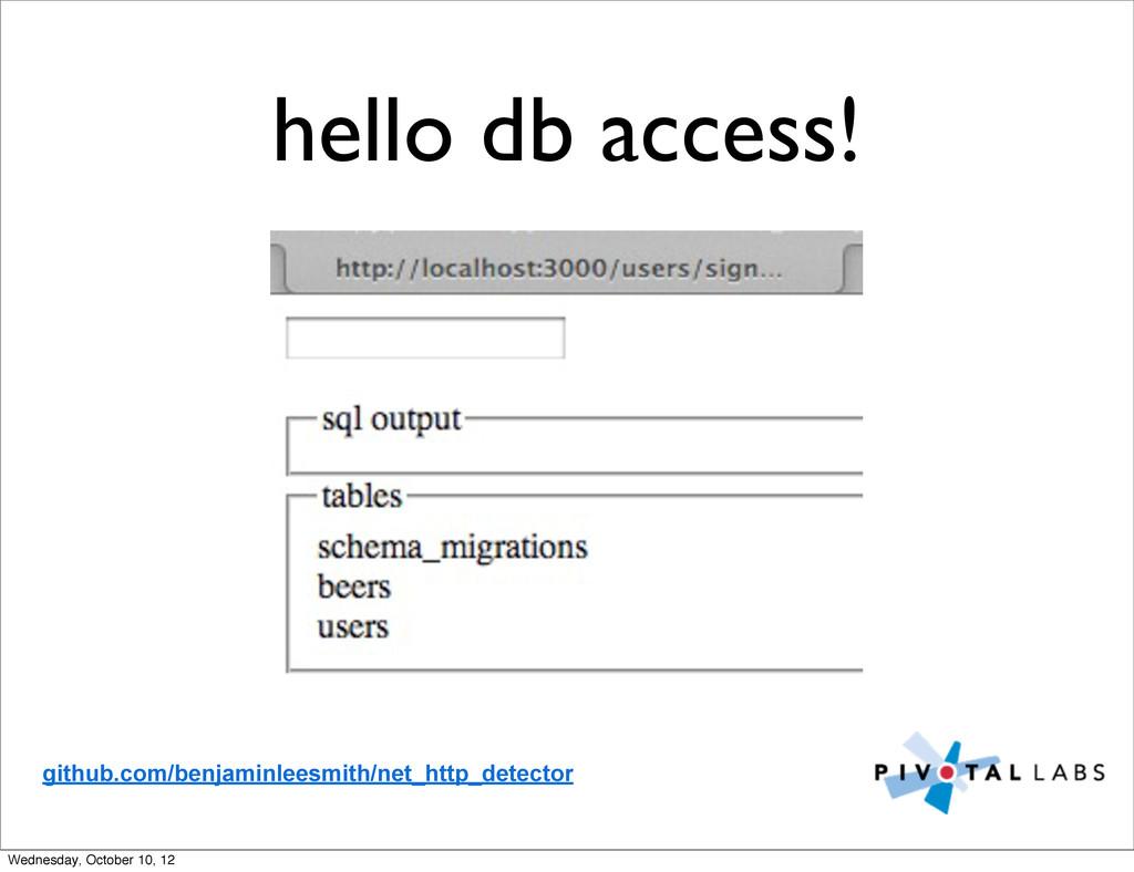 hello db access! github.com/benjaminleesmith/ne...