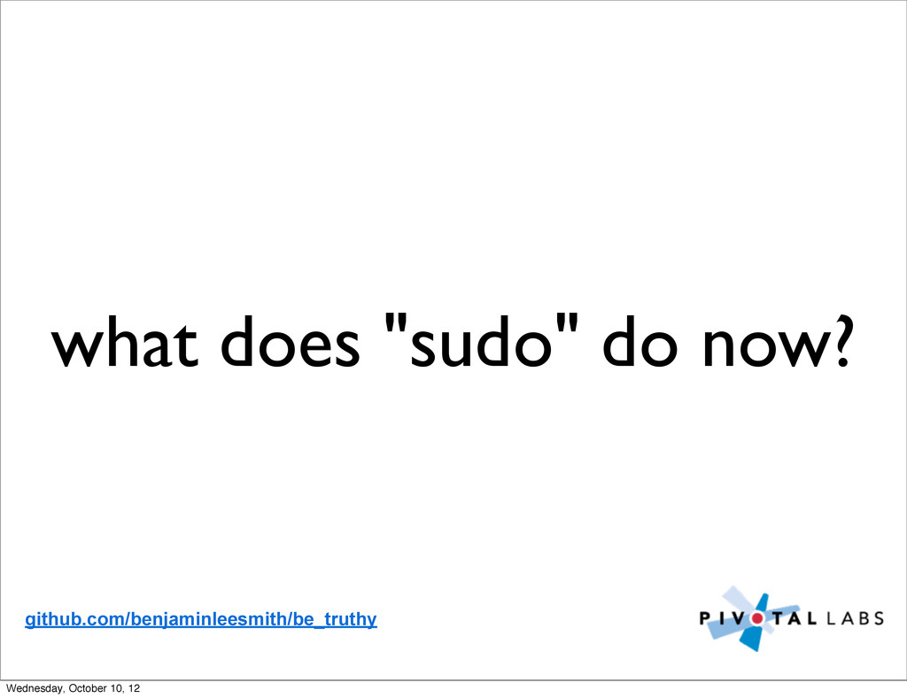 """what does """"sudo"""" do now? github.com/benjaminlee..."""