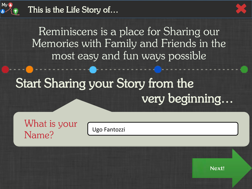 Next! Start Sharing your Story from the very be...