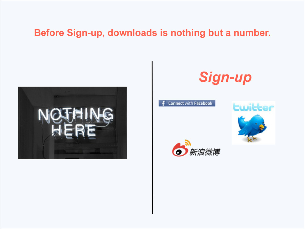 Sign-up Before Sign-up, downloads is nothing bu...