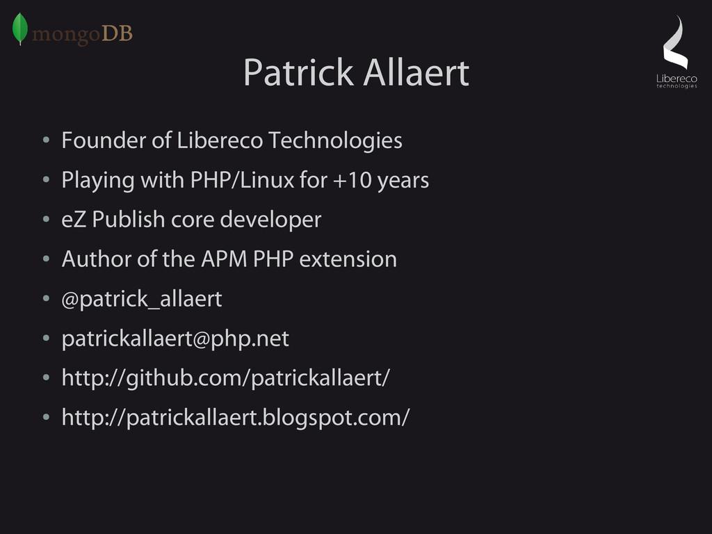 Patrick Allaert ● Founder of Libereco Technolog...