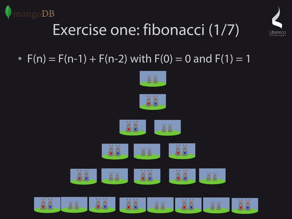 Exercise one: fibonacci (1/7) ● F(n) = F(n-1) +...