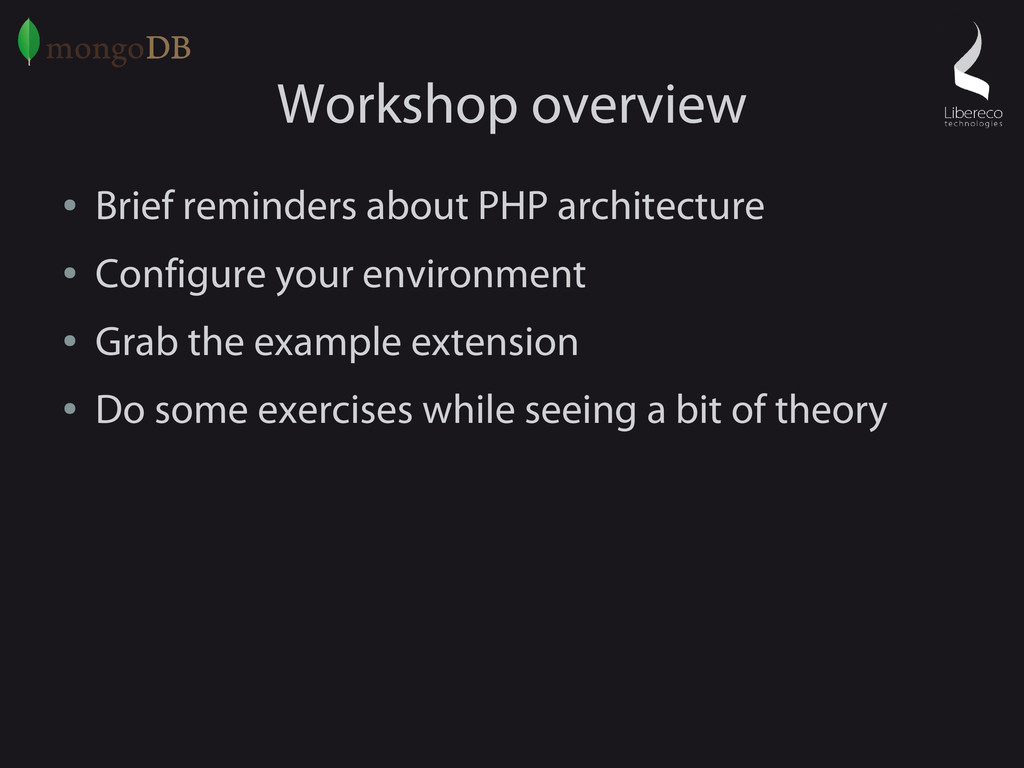 Workshop overview ● Brief reminders about PHP a...