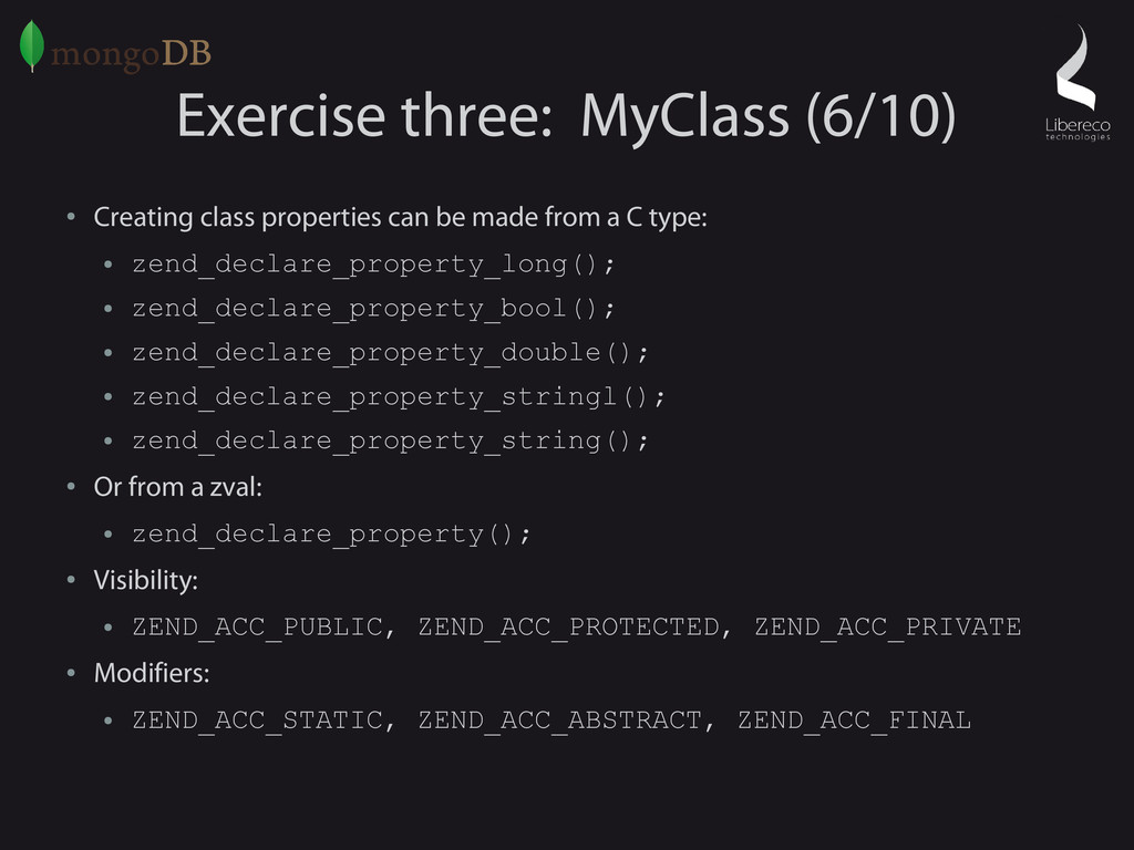 Exercise three: MyClass (6/10) ● Creating class...