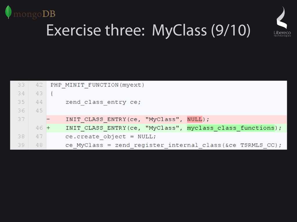Exercise three: MyClass (9/10)
