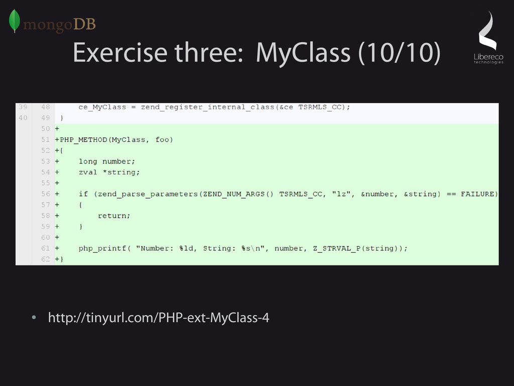 Exercise three: MyClass (10/10) ● http://tinyur...