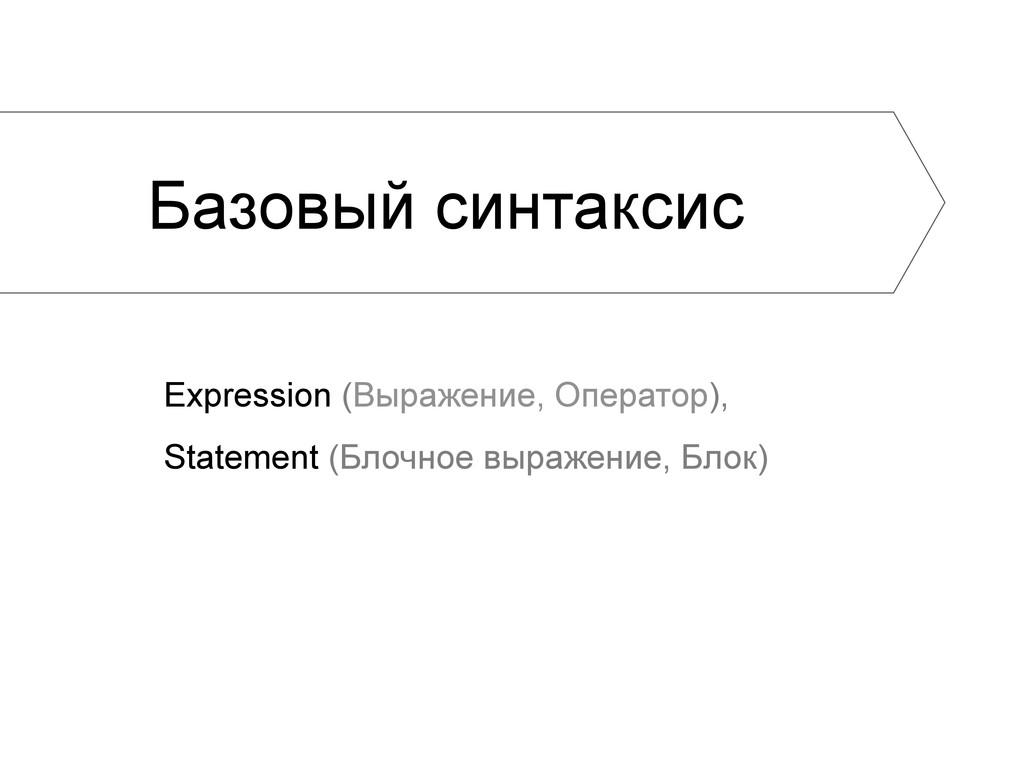 Базовый синтаксис Expression (Выражение, Операт...
