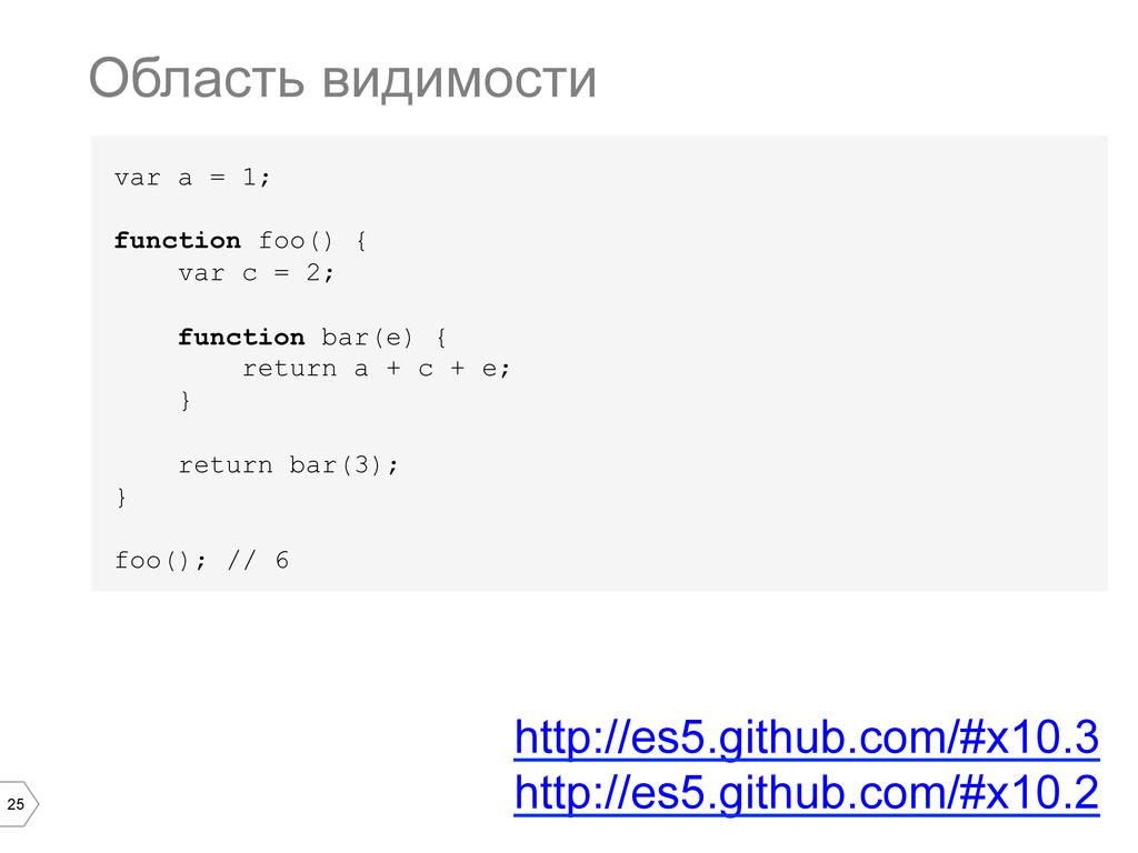 25 var a = 1; function foo() { var c = 2; funct...