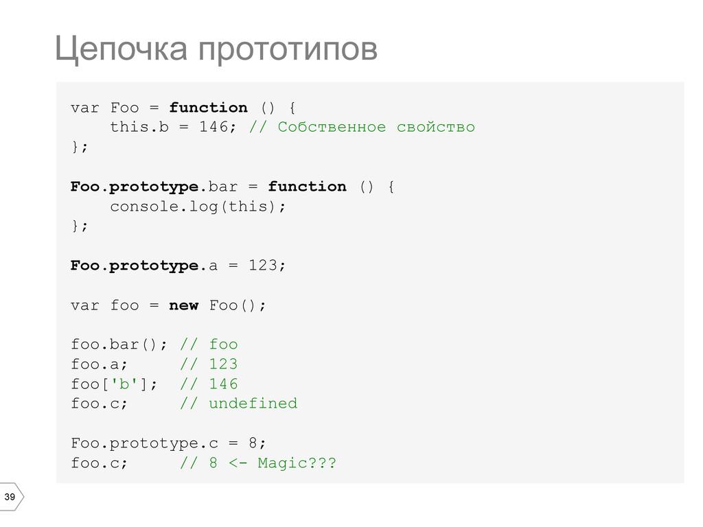 39 var Foo = function () { this.b = 146; // Соб...