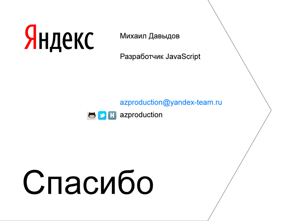 Михаил Давыдов Разработчик JavaScript azproduct...