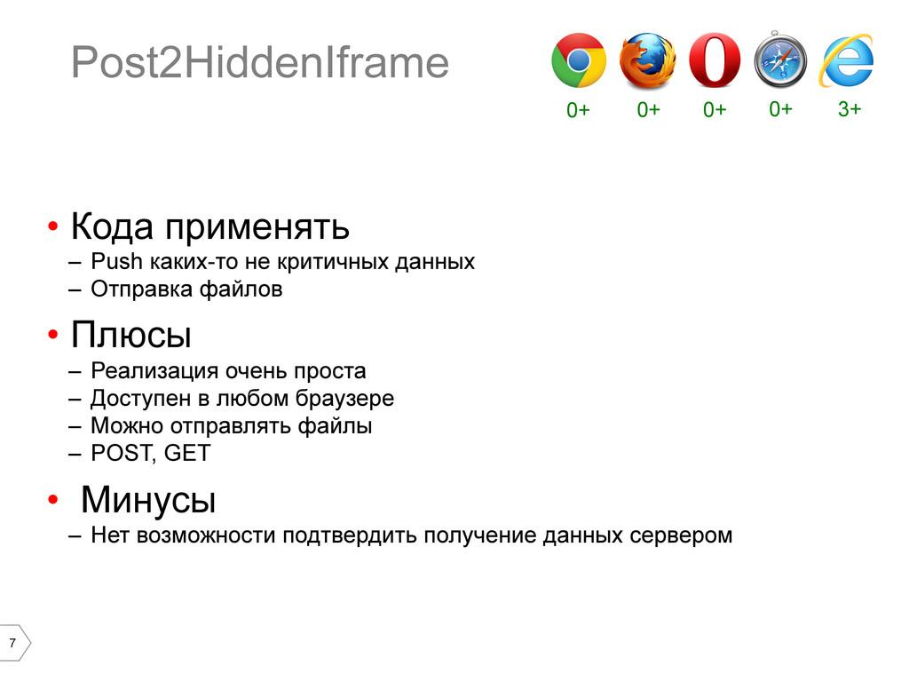 7 Post2HiddenIframe • Кода применять – Push к...